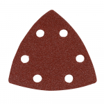 Reference : TOO218923 - Feuilles abrasives triangulaires auto-agrippantes 90 mm, 10 pcs - Grain 80