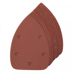Reference : TOO336046 - Feuilles abrasives triangulaires auto-agrippantes 140 mm, 10 pcs - G60 (x4), G80 (x2), G120 (x2), G240 (x2)