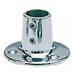 Reference : ACC0511 - Platine inox ronde - 22 mm - droite 90°