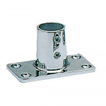 Reference : ACC0521 - Platine inox rectangle - 22 mm - droite 90°