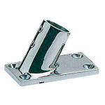 Reference : ACC0524 - Platine inox rectangle - 25 mm - inclinée 60°