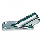 Reference : ACC0525 - Platine inox rectangle - 22 mm - inclinée 30°