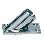 Reference : ACC0526 - Platine inox rectangle - 22 mm - inclinée 45°