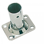 Reference : ACC0541 - Platine inox soudée rectangulaire - 22 mm - droite 90°