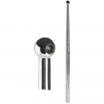 Reference : ACC0921 - Chandelier inox boule - 465 mm