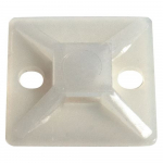 Reference : COL0202 - Embases adhésive - 28 x 28 mm - blanc