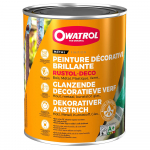 Reference : PEI0320 - Antirouille RUSTOL DECO - Blanc pur - RAL 9010 - 2.5 L
