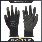 Reference : TOO578493 - Gants à paume renforcée PU noirs - S 8