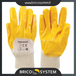 Reference : TOO282475 - Gants interlock nitrile dessus ouvert - L 10