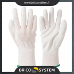 Reference : TOO999648 - Gants à paume renforcée blancs - Taille M